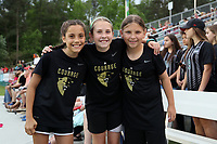 Cary, NC - Saturday April 22, 2017: North Carolina fans prior to a regular season National Women's Soccer League (NWSL) match between the North Carolina Courage and the Portland Thorns FC at Sahlen's Stadium at WakeMed Soccer Park.