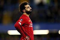 3rd March 2020; Stamford Bridge, London, England; English FA Cup Football, Chelsea versus Liverpool; A dejected Mohamed Salah of Liverpool