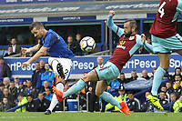 Morgan Schneiderlin of Everton tries a shot during the Premier League match between Everton and Burnley at Goodison Park on October 1st 2017 in Liverpool, England. <br /> Calcio Everton - Burnley Premier League <br /> Foto Phcimages/Panoramic/insidefoto
