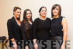 The contestant Niamh Lynch Kilflynn, Clodagh Harrington Tralee,Ashlee Fitzgerald Ballyheigue and Niamh Daly Tralee at 'The Voice' in Tralee in Fels Point Hotel on Saturday in aid of Recovery Haven