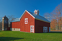 Sleeping Bear Dunes National Lakeshore, MI: The redCrouch barn in morning.