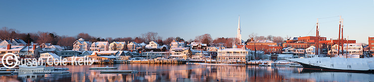 A winter sunrise in Camden, ME, USA