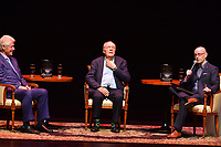 "FORT LAUDERDALE, FL - JUNE 12: Former U.S. President Bill Clinton and author James Patterson in a conversation about they new book "" The President is Missing"" hosted by author Brad Meltzer at the Broward Center Au-Rene Theater on June 12, 2018 in Fort Lauderdale, Florida.  Credit: MPI10 / MediaPunch"