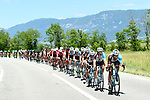 AG2R La Mondiale on the front of the peloton during Stage 6 of the Criterium du Dauphine 2017, running 147.5km from Parc des Oiseaux - Villars-les-Dombes to La Motte-Servolex, France. 9th June 2017. <br /> Picture: ASO/A.Broadway | Cyclefile<br /> <br /> <br /> All photos usage must carry mandatory copyright credit (&copy; Cyclefile | ASO/A.Broadway)