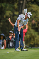 Brian Harman (USA) watches his putt on 11 during round 2 of the World Golf Championships, Mexico, Club De Golf Chapultepec, Mexico City, Mexico. 3/2/2018.<br /> Picture: Golffile | Ken Murray<br /> <br /> <br /> All photo usage must carry mandatory copyright credit (&copy; Golffile | Ken Murray)