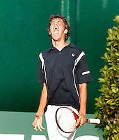 13-7-06,Scheveningen, Siemens Open, third round match, Robin Haase gaat uit zijn dak