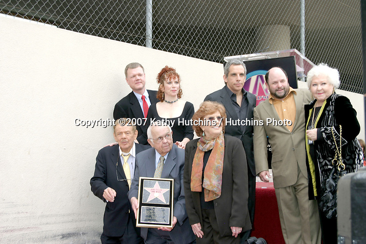 Jerry Stiller, daughter Amy, son Ben Stiller & wife Anne Meara, Jason Alexander, and Chamber OFficials.Jerry Stiller & Anne Meara received a star on the Hollywood Walk of Fame.Los Angeles, CA.February 9, 2007.©2007 Kathy Hutchins / Hutchins Photo.
