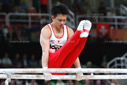 Yusuke Tanaka (JPN), <br /> AUGUST 8, 2016 - Artistic Gymnastics : <br /> Men's Final  <br /> Parallel Bars    <br /> at Rio Olympic Arena <br /> during the Rio 2016 Olympic Games in Rio de Janeiro, Brazil. <br /> (Photo by Sho Tamura/AFLO SPORT)