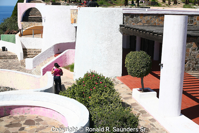 """Young couple at the winding <br /> """"La Mirador"""" complex. Spanish is """"La Mirador"""" for (lookout)<br /> (4)"""