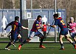 Jose Guillermo Basso, FC Barcelona 31 v 42 VRAC Quesos Entrepinares, Stadio La Teixonera, Barcelona. Jornada 12, Liga Heineken 2017/2018. Photo Martin SerasLima