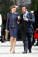 Princess Letizia of Spain and ONCE President Miguel Carballeda attend 'Discapnet Awards' 2013 at the ONCE building in Madrid, Spain. March 11, 2013. (ALTERPHOTOS/Caro Marin) /NortePhoto
