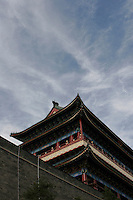 The partly renovated Zheng Yang Men (Gate of Facing Sun) is seen against a blue sky in Beijing, China..22 Aug 2006