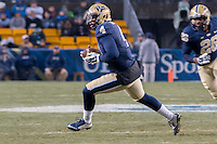 Pitt linebacker Bam Bradley (4) returns an interception. The Pitt Panthers defeated the Syracuse Orange 30-7 at Heinz Field, Pittsburgh, Pennsylvania on November 22, 2014.