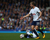 9th September 2017, Goodison Park, Liverpool, England; EPL Premier League Football, Everton versus Tottenham; Eric Dier of Tottenham disputes a foul given against him after his tackle on Idrissa Gueye of Everton