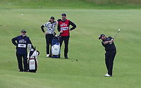 210719 | The 148th Open - Final Round<br /> <br /> Shane Lowry of Ireland plays his approach to the 18th  during the final round of the 148th Open Championship at Royal Portrush Golf Club, County Antrim, Northern Ireland. Photo by John Dickson - DICKSONDIGITAL