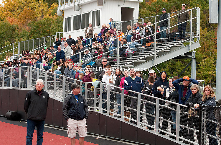 TORRINGTON, CT-101114JS09- A large crowd was on-hand during a dedication ceremony for the new Torrington track and field sports complex at Torrington High School on Saturday prior to the homecoming game between Torrington and Derby. <br /> Jim Shannon Republican-American