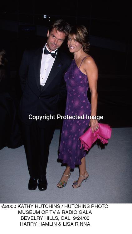 ©2000 KATHY HUTCHINS / HUTCHINS PHOTO.MUSEUM OF TV & RADIO GALA.BEVELRY HILLS, CAL  9/24/00.HARRY HAMLIN & LISA RINNA