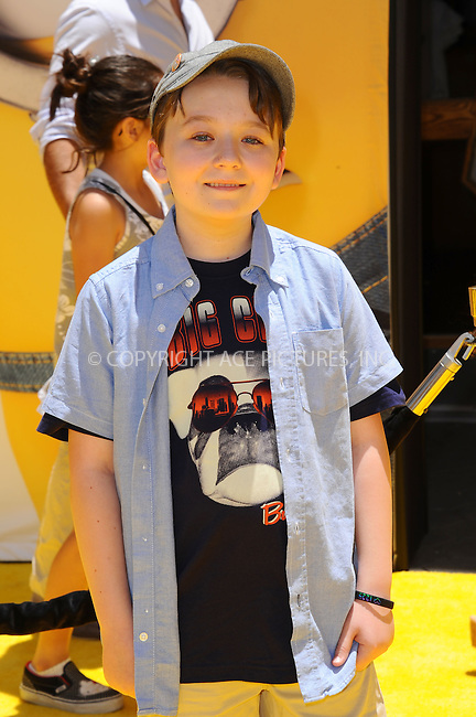 WWW.ACEPIXS.COM<br /> <br /> June 22 2013, New York City<br /> <br /> Benjamin Stockham arriving at the 'Despicable Me 2' premiere at Universal CityWalk on June 22, 2013 in Universal City, California.<br /> <br /> <br /> By Line: Peter West/ACE Pictures<br /> <br /> <br /> ACE Pictures, Inc.<br /> tel: 646 769 0430<br /> Email: info@acepixs.com<br /> www.acepixs.com