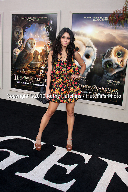 LOS ANGELES - SEP 19:  Vanessa Hudgens arrives at the Legend of the Guardians: The Owls of Ga'Hoole Premiere at Grauman's Chinese Theater on September 19, 2010 in Los Angeles, CA
