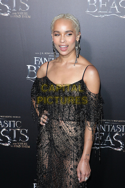 NEW YORK, NY - NOVEMBER 10: Zoe Kravitz at the World Premiere of Fantastic Beasts at Alice Tully Hall on November 10, 2016 in New York City. <br /> CAP/MPI/DIE<br /> &copy;DIE/MPI/Capital Pictures