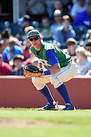 Lexington Legends first baseman Frank Schwindel (13) holds a runner on during a game against the Hagerstown Suns on May 19, 2014 at Whitaker Bank Ballpark in Lexington, Kentucky.  Lexington defeated Hagerstown 10-8.  (Mike Janes/Four Seam Images)