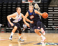 Austin Etherington at the NBPA Top100 camp June 17, 2010 at the John Paul Jones Arena in Charlottesville, VA. Visit www.nbpatop100.blogspot.com for more photos. (Photo © Andrew Shurtleff)