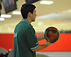 Bryan Bono of Holy Trinity High School gets ready to roll during the Nassau-Suffolk CHSAA boys' bowling individual championship at AMF Babylon Lanes on Thursday, Feb. 11, 2016. He posted a high game score of 279.