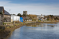 Pictured: River Teifi from in Cardigan, west Wales, UK. Tuesday 20 March 2018<br /> Re: The funeral of two year old Kiara Moore, who died after being recovered from a silver Mini car found in river Teifi in Cardigan will be held today (Tue 27 Mar 2018) at Parc Gwyn Crematorium, Narberth, west Wales.<br /> Kiara was taken at the University Hospital of Wales in Cardiff after being rescued but was pronounced dead.<br /> It is believed the car she was in, rolled down a slipway while her mother got out momentarily to get cash out of the family business premises.<br /> Her parents Jet Moore and Kim Rowlands have expressed their grief on social media.