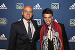 January 17th, 2013: #2 draft pick Carlos Alvarez, selected by the Chivas USA, with head coach Jose Luis Sanchez Sola (MEX). The 2013 MLS SuperDraft was held during the NSCAA Annual Convention held in Indianapolis, Indiana.