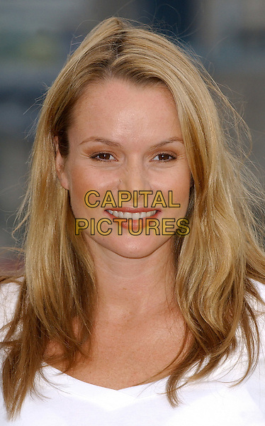 AMANDA HOLDEN.Helps OFT (Office Of Fair Trading) launch it's Codes Logo Scheme to help consumers shop with confidence, Butlers Wharfe, London. .October 5th, 2005.Ref: BEL.headshot portrait.www.capitalpictures.com.sales@capitalpictures.com.© Capital Pictures.