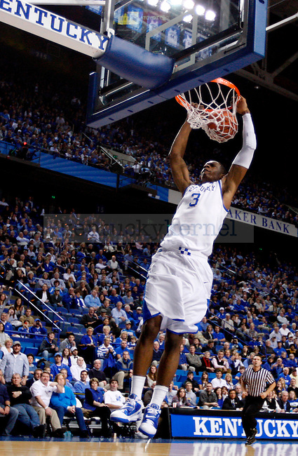 Terrence Jones makes a dunk in the second half of UK's win over the Penn Quakers at Rupp Arena on Jan. 3, 2011. Photo by Britney McIntosh   Staff