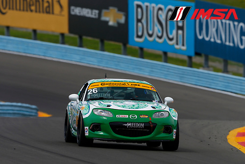 IMSA Continental Tire SportsCar Challenge<br /> Continental Tire 120 at The Glen<br /> Watkins Glen International, Watkins Glen, NY USA<br /> Thursday 29 June 2017<br /> 26, Mazda, Mazda MX-5, ST, Andrew Carbonell, Liam Dwyer<br /> World Copyright: Jake Galstad/LAT Images