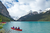 Canoers, Lake Louise, Banff National Park