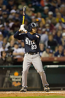 Anthony Rendon #23 of the Rice Owls at bat versus the Texas A&M Aggies in the 2009 Houston College Classic at Minute Maid Park February 28, 2009 in Houston, TX.  The Owls defeated the Aggies 2-0. (Photo by Brian Westerholt / Four Seam Images)