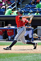 State College Spikes outfielder Wes Freeman #45 during a game against the Staten Island Yankees at Richmond County Bank Ballpark at St. George on July 14, 2011 in Staten Island, NY.  Staten Island defeated State College 6-4.  Tomasso DeRosa/Four Seam Images
