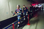 Stockholm 2014-03-27 Ishockey Kvalserien Djurg&aring;rdens IF - R&ouml;gle BK :  <br /> Djurg&aring;rdens Jens Jakobs p&aring; v&auml;g till omkl&auml;dningsrummet efter matchen <br /> (Foto: Kenta J&ouml;nsson) Nyckelord:  DIF Djurg&aring;rden R&ouml;gle RBK Hovet portr&auml;tt portrait