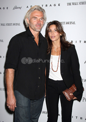 NEW YORK, NY - SEPTEMBER 12: Bobby Kalser and Gina Gershon at the NY premiere of Lionsgate & Roadside Attractions' Arbitrage presented by The Wall Street Journal & Piaget at the Walter Reade Theater in New York City. September 12, 2012. © RW/MediaPunch Inc.
