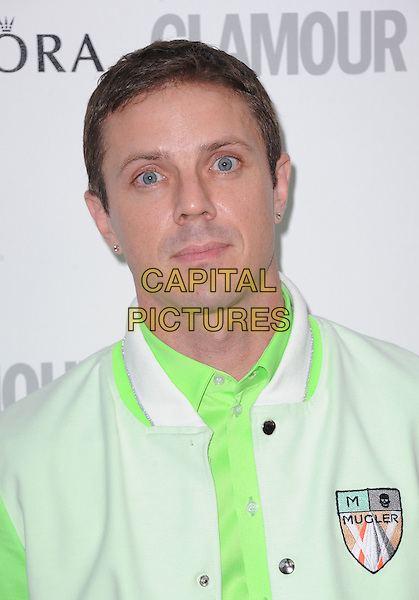 Jake Shears of Scissor Sisters.Women Of The Year 2012 - Glamour Awards, Berkeley Square, London, England..29th May 2012.headshot portrait green white jacket.CAP/WIZ.© Wizard/Capital Pictures.