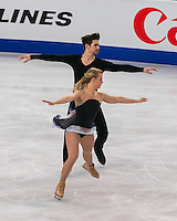 Boston, Massachusetts - March 31, 2016: ISU World Figure Skating Championships Boston 2016 - Dance FS, at TD Garden.