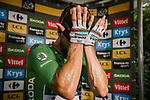 Green Jersey Peter Sagan (SVK) Bora-Hansgrohe wins Stage 13 his 3rd stage win of the 2018 Tour de France running 169.5km from Bourg d'Oisans to Valence, France. 20th July 2018. <br /> Picture: ASO/Pauline Ballet | Cyclefile<br /> All photos usage must carry mandatory copyright credit (© Cyclefile | ASO/Pauline Ballet)