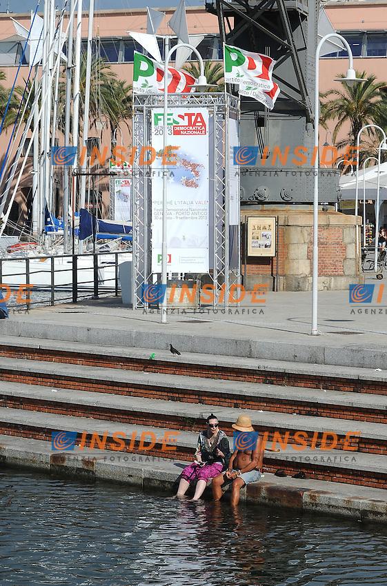 30-08-2013: Genova Festa Nazionale Partito Democratico<br /> La Festa Nazionale del PD a Genova<br /> Democratic Party national meeting <br /> Foto Genovafoto / Insidefoto