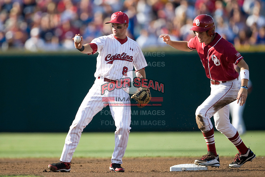South Carolina 2B Scott Wingo in Game 10 of the NCAA Division One Men's College World Series on June 24th, 2010 at Johnny Rosenblatt Stadium in Omaha, Nebraska.  (Photo by Andrew Woolley / Four Seam Images)
