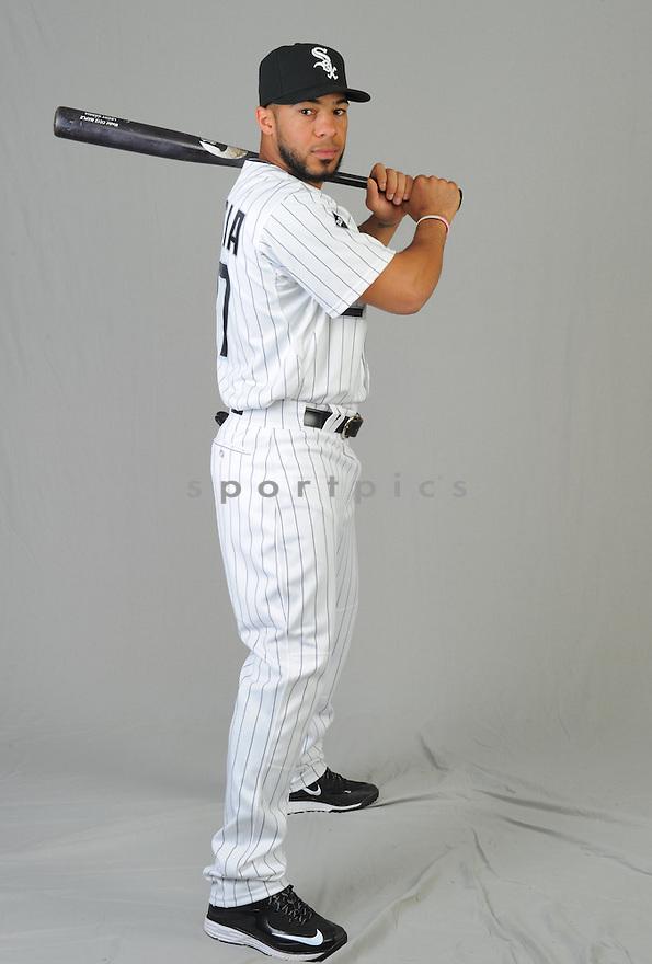Chicago White Sox Leury Garcia (27) during photo day on February 28, 2015 in Glendale, AZ.