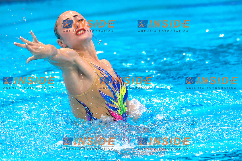 Anna VOLOSHYNA UKR Ukraine Silver Medal <br /> Solo Free Final <br /> London, Queen Elizabeth II Olympic Park Pool <br /> LEN 2016 European Aquatics Elite Championships <br /> Synchronized Swimming <br /> Day 02 10-05-2016<br /> Photo Andrea Staccioli/Deepbluemedia/Insidefoto