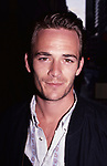 Luke Perry arrives for  the Fox Network Upfronts  at the Four Seasons Hotel on May 20, 1996 in New York City.