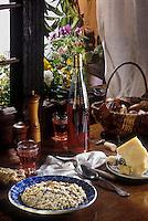 Europe/Italie/Val d'Aoste: Riz à la Valdotaine, riz avec le fromage local la fontine et des cèpes