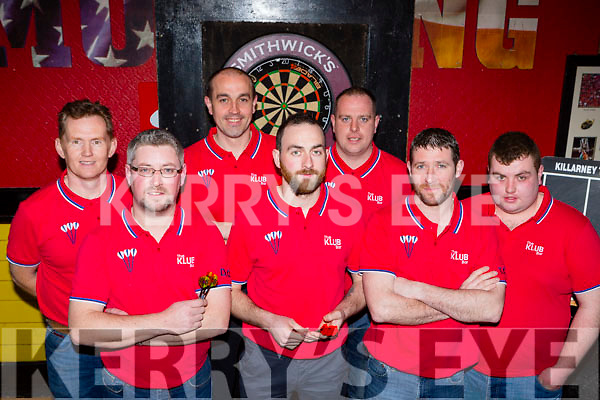 The Klub bar team that that played in the Killarney Darts league Group 2 final in Mustang's Sallys on Friday night Mike Brosnan, Donal O'Sullivan, Diarmuid Donoghue, Daniel O'Leary, Ian O'Leary, Tim O'Sullivan, Darragh Brosnan