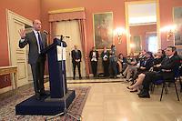 Il Minoistro degli interni Angelino Alfano in prefettura per un vertice sulla sicurezza a Napoli