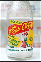 BNPS.co.uk (01202 558833)<br /> Pic: RachelAdams/BNPS<br /> <br /> A colourful bottle design used to advertise other products besides milk. <br /> <br /> In a glass of his own...<br /> <br /> Dairy-daft Peter Hayward is udderly devoted to his bizarre hobby - collecting vintage milk bottles.<br /> <br /> The 70-year-old has devoted the last 30 years to building up a whopping collection of more than 1,000 bottles.<br /> <br /> Peter, a former dairy worker, scours the south west of Britain in search of rare bottles emblazened with the colourful logos of old dairies.<br /> <br /> And since retiring 16 years ago his collection has swelled so much that he has been forced to turn his garage into a mini museum.<br /> <br /> Peter's obsession with milk started as a 10-year-old when he helped his local milkman on his weekend rounds to earn some pocket money.<br /> <br /> He later joined Express Dairies as a distribution manager, working alongside hundreds of independent dairy farmers.<br /> <br /> When he retired in the late 1990s Peter had amassed a sizeable collection in his office - and decided to devote his free time to growing it.