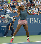 Serena Williams partners with sister Venus in doubles match at the US Open being played at USTA Billie Jean King National Tennis Center in Flushing, NY on August 29, 2013